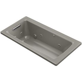 Kohler Archer Cashmere Acrylic Rectangular Drop-In Whirlpool Tub (Comm