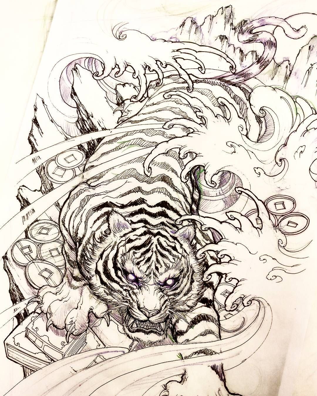 Tiger sketch #tiger #sketch #illustration #drawing # ...