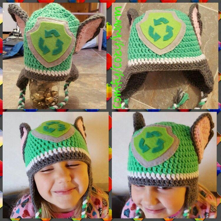 11a8463520d Crochet Paw Patrol earflap beanie  Rocky