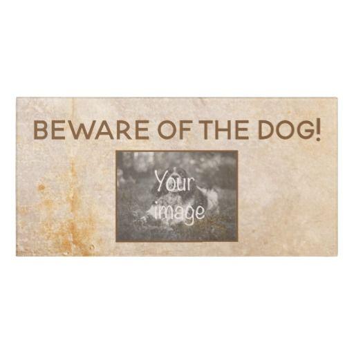 Vintage Design With Photo Beware Of The Dog Door Sign Doorsign