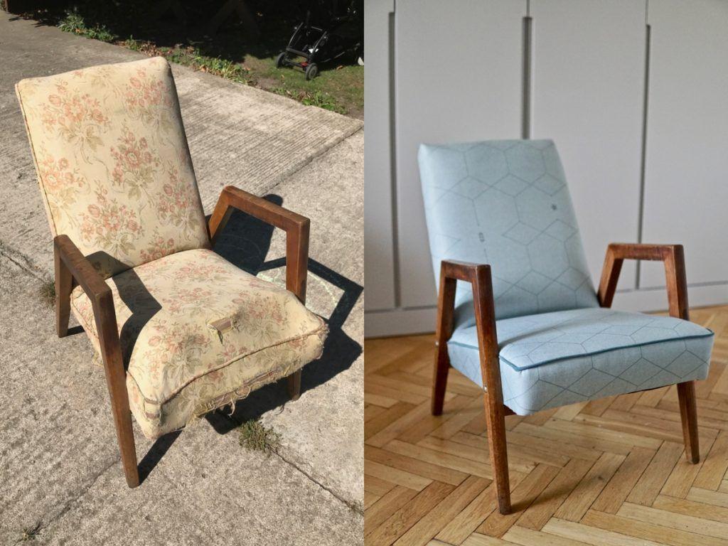 Diy Zmiana Tapicerki Fotela Nie Popelnij Tych Bledow Home Decor Furniture Chair