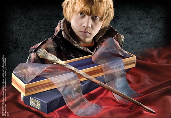 ron weasley wand with ollivanders wand box wand measures approx 15 inches in length