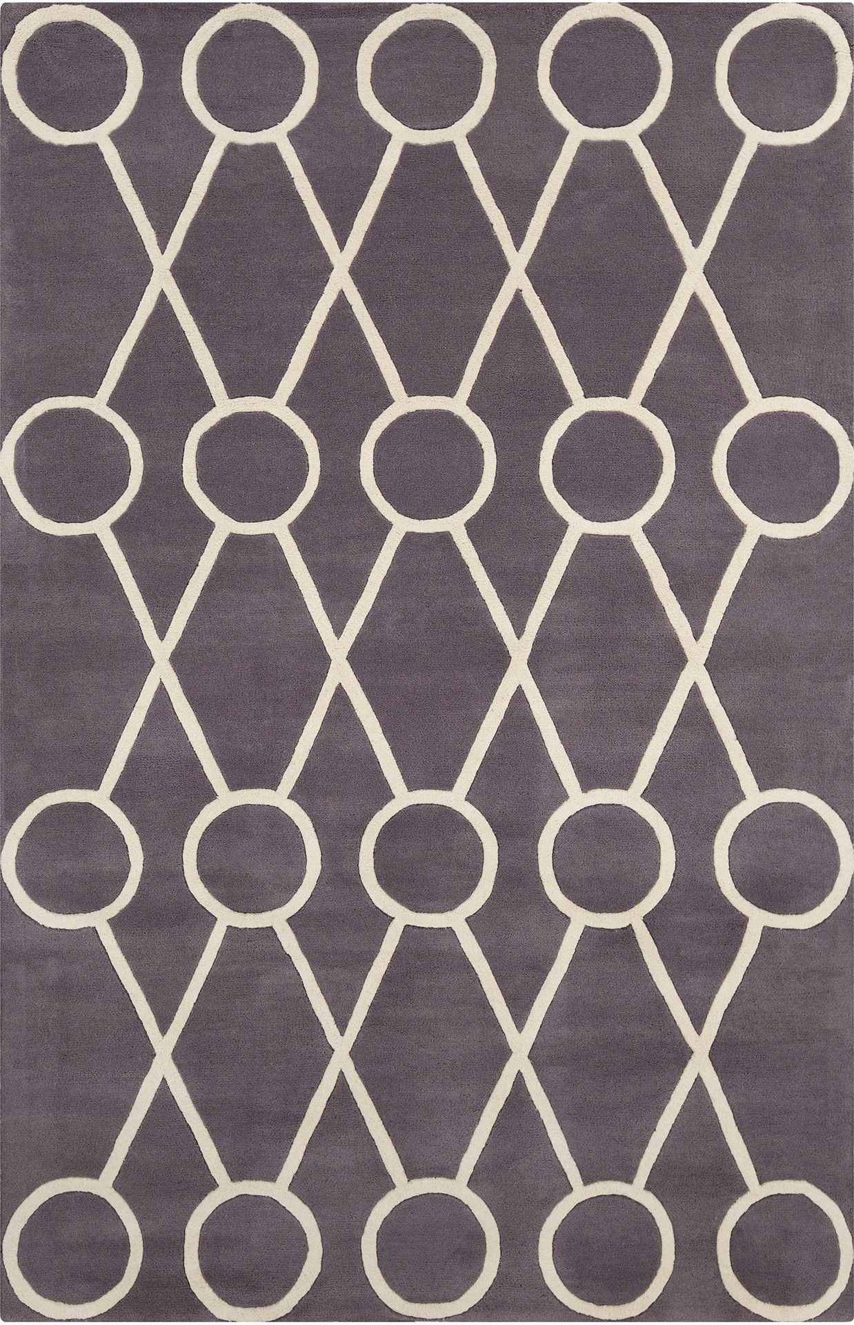 Stella patterned contemporary wool dark graycream area rug dark