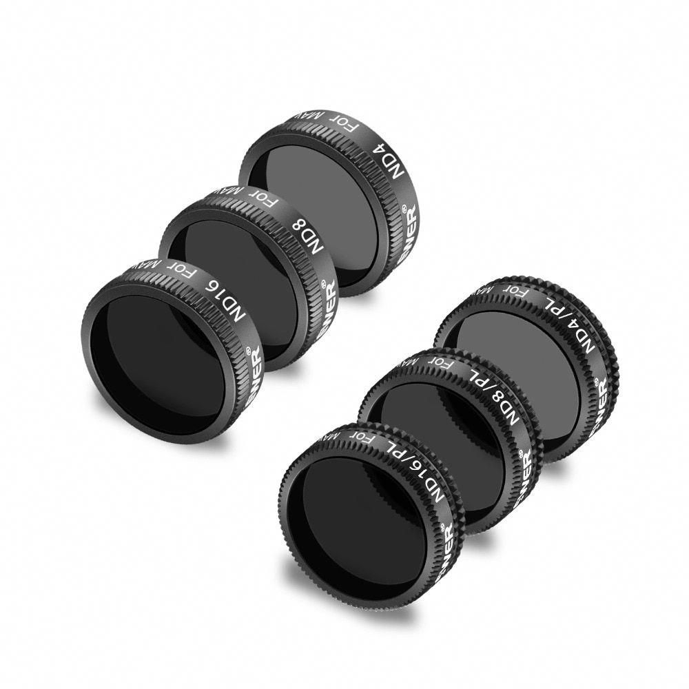 ND4//PL ND8 ND8//PL Gold ND16//PL Made of Multi Coated Waterproof Aluminum Alloy Frame Optical Glass ND16 Neewer 6 Pieces Pro Lens Filter Kit for DJI Mavic Air Drone Quadcopter Includes: ND4