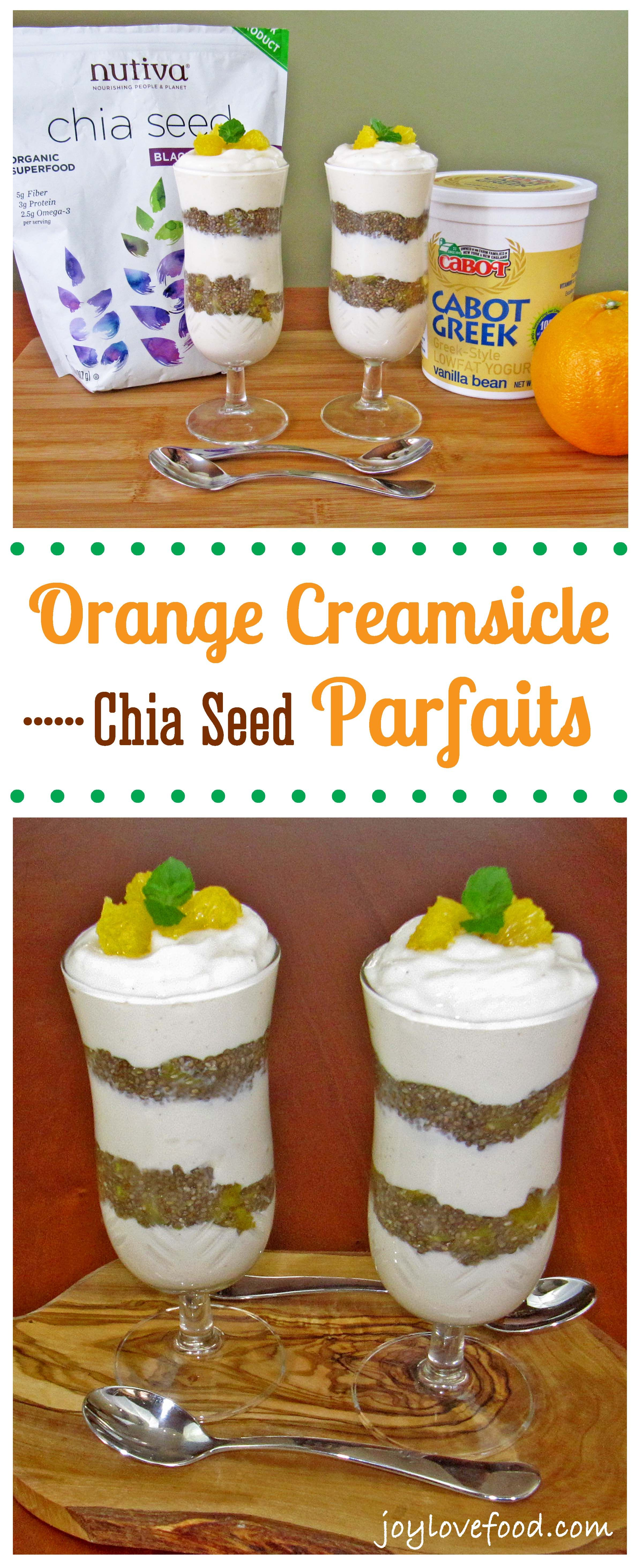 Orange Creamsicle Chia Seed Parfaits