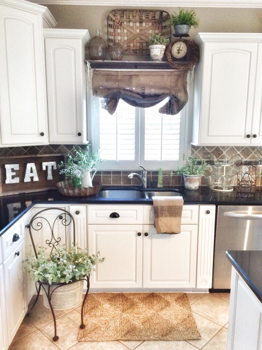 Burlap Sack Curtains More Kitchens In 2019 Country