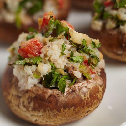 Crabmeat Stuffed Mushrooms | #chickenofthesea #appetizer #crab #StuffedMushrooms #recipe