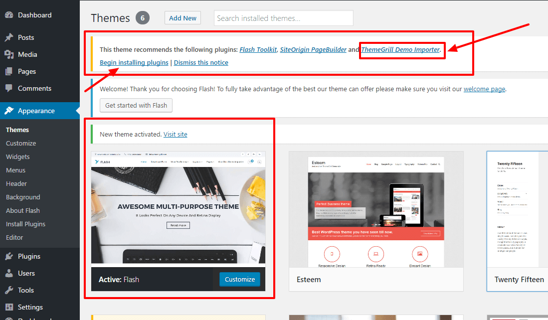 A 2-Minute Guide on ThemeGrill Demo Importer with One Click Demo