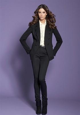b3124c5477a Классический деловой черный женский костюм в картинках Брючный Костюм