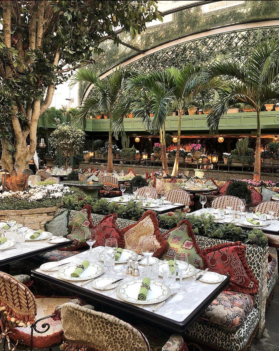 The Garden Restaurant Annabel's Mayfair London Members