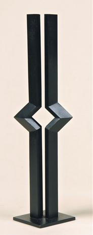 Marc Verstockt (Belgian, born 1930) Signaal , 1972 steel corten, black patina 36.5 x 8 cm. (14.4 x 3.1 in.)