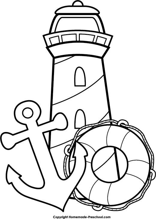 Free lighthouse clipart, ready for PERSONAL and COMMERCIAL