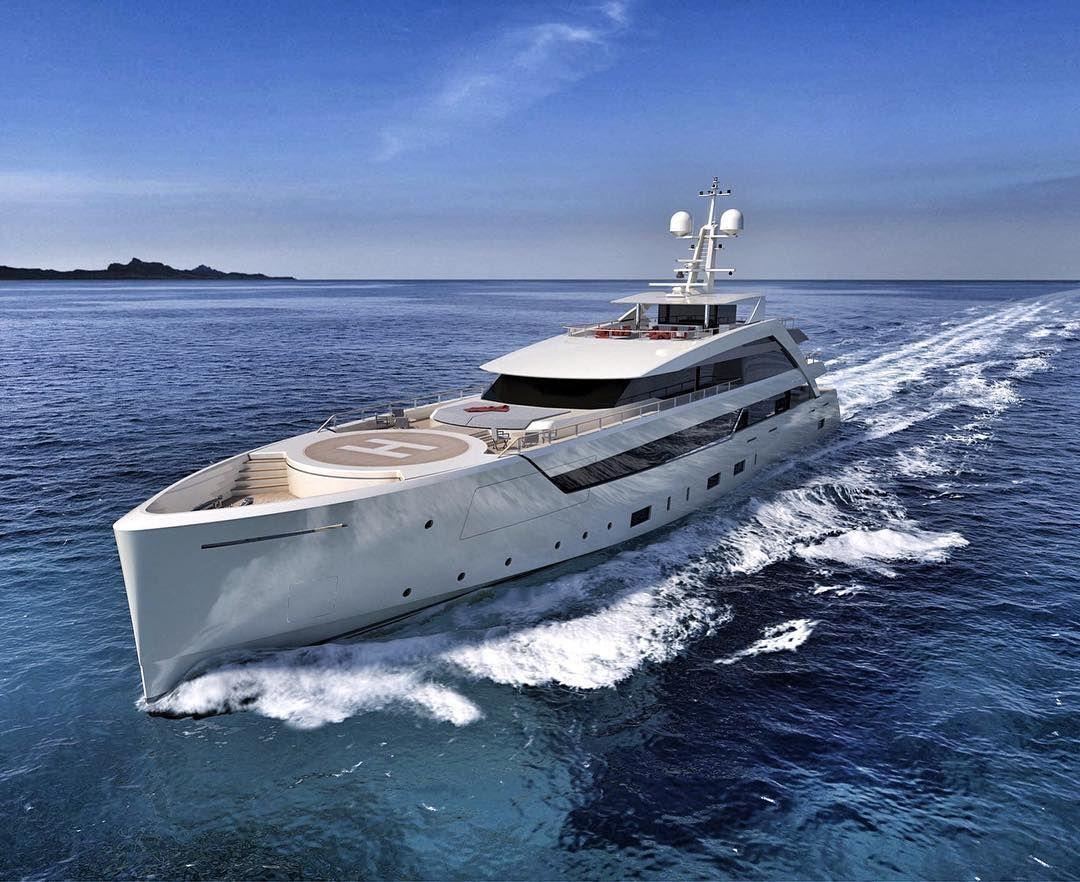 60m #superyacht By @mondomarine_ By Navalpartner