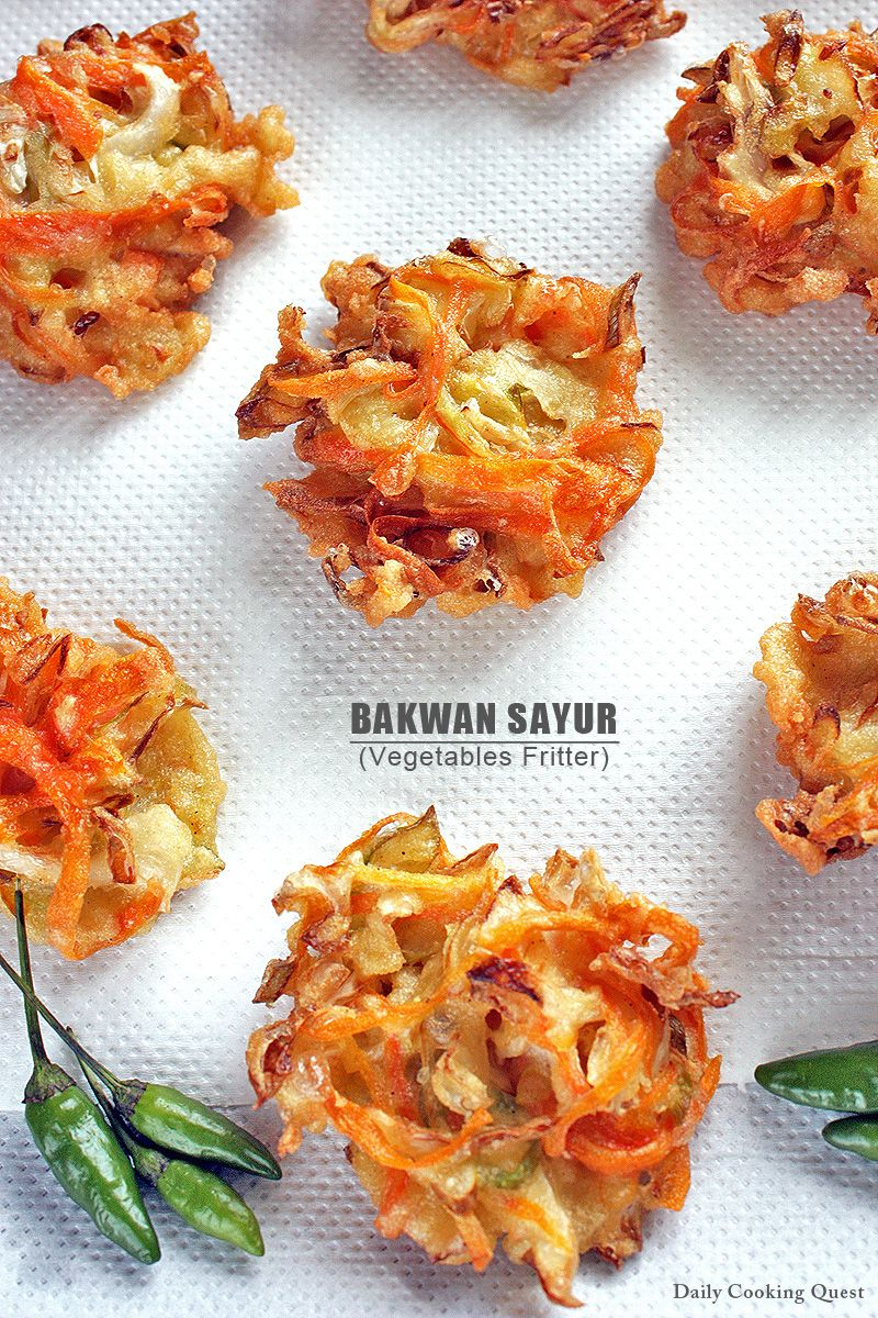 Bakwan is Indonesian version of tempura. Just like making a tempura, you will need to decide on your ingredients, this usually consists of assortment of vegetables. And you will need to prepare your batter. The most common bakwan is the vegetables version, in which shredded cabbage and shredded carrot are …