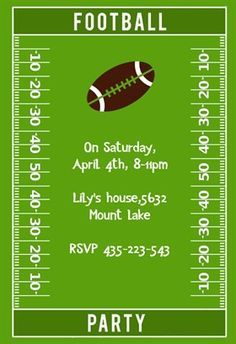 football party printable invitation template customize add text