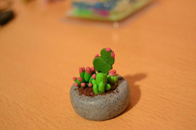 Macetero de Cactus // Cactus    #cactus #plants #cute #diy #fimo #manualidades