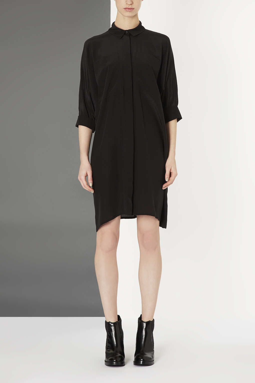 Black t shirt dress topshop - Photo 2 Of Silk Shirt Dress By Boutique