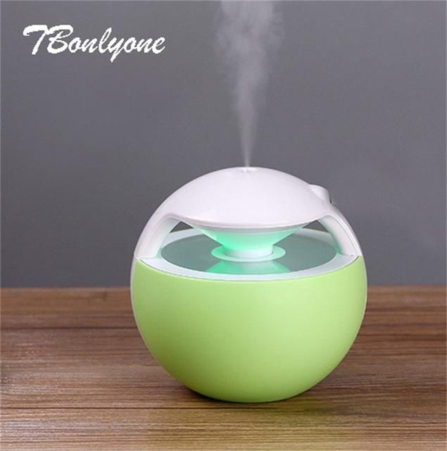 Beautiful 450ml Ball Aroma Lamp Humidifier Portable With Usb 4 Colors Humidifier Aroma Diffuser Oil Diffuser