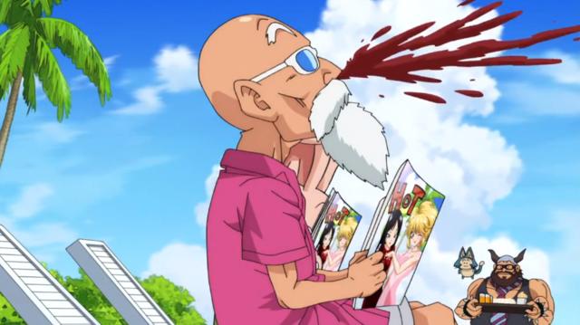 File Dbs Master Roshi Nose Bleed Png Anime Anime Scenery Anime Comics