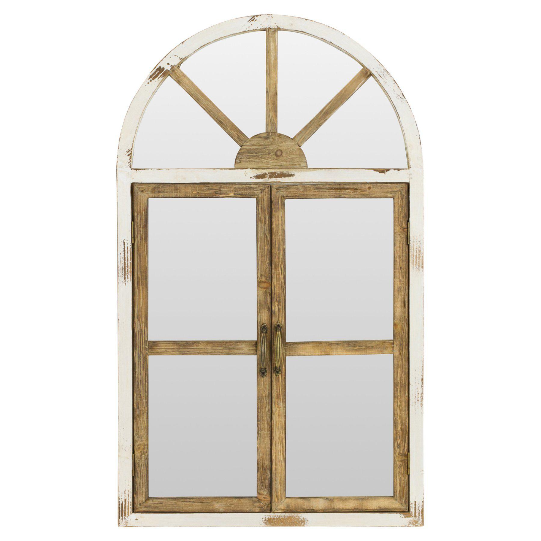 Window pane decor aspire home accents portico arch window pane wall mirror  w x h