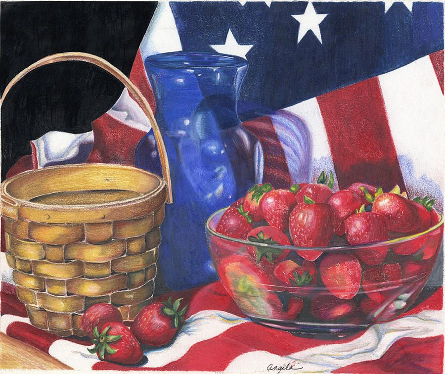 Patriotic Strawberries by Angela Armano (900×756)