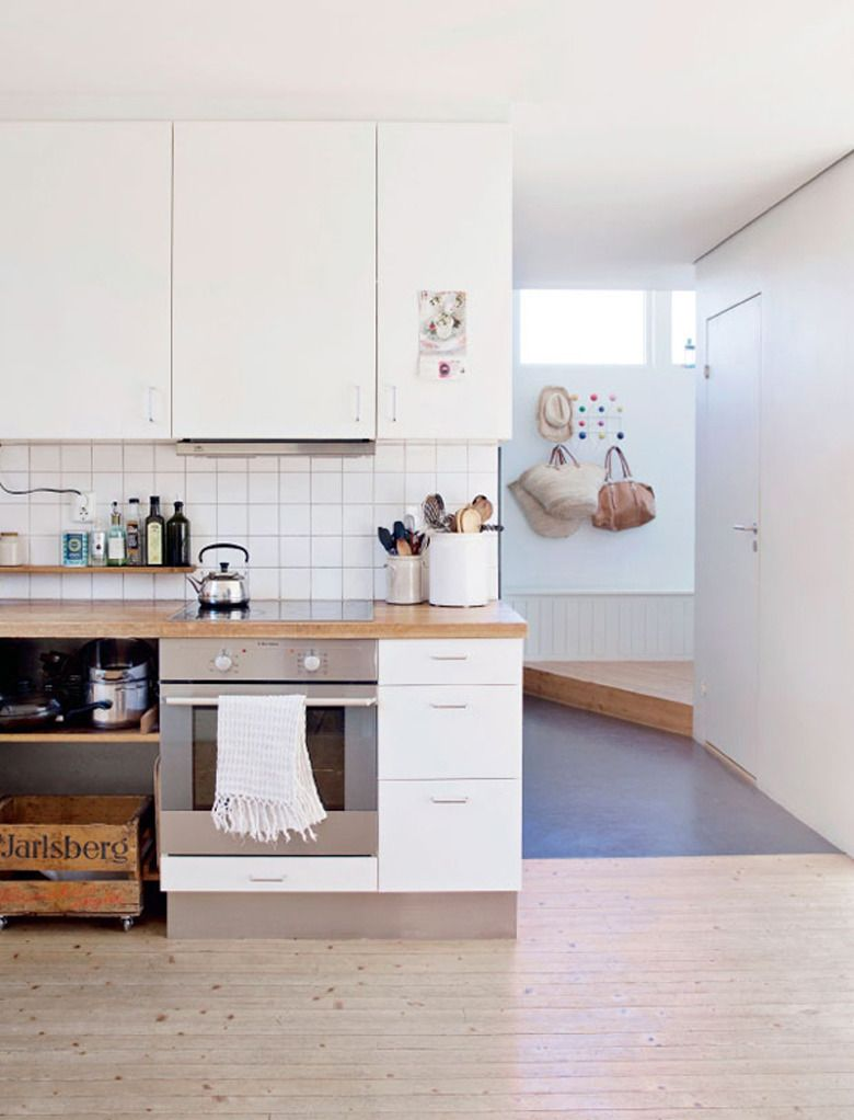 White, Blonde Wood and Pastel Norwegian Home Tour | Made From ...