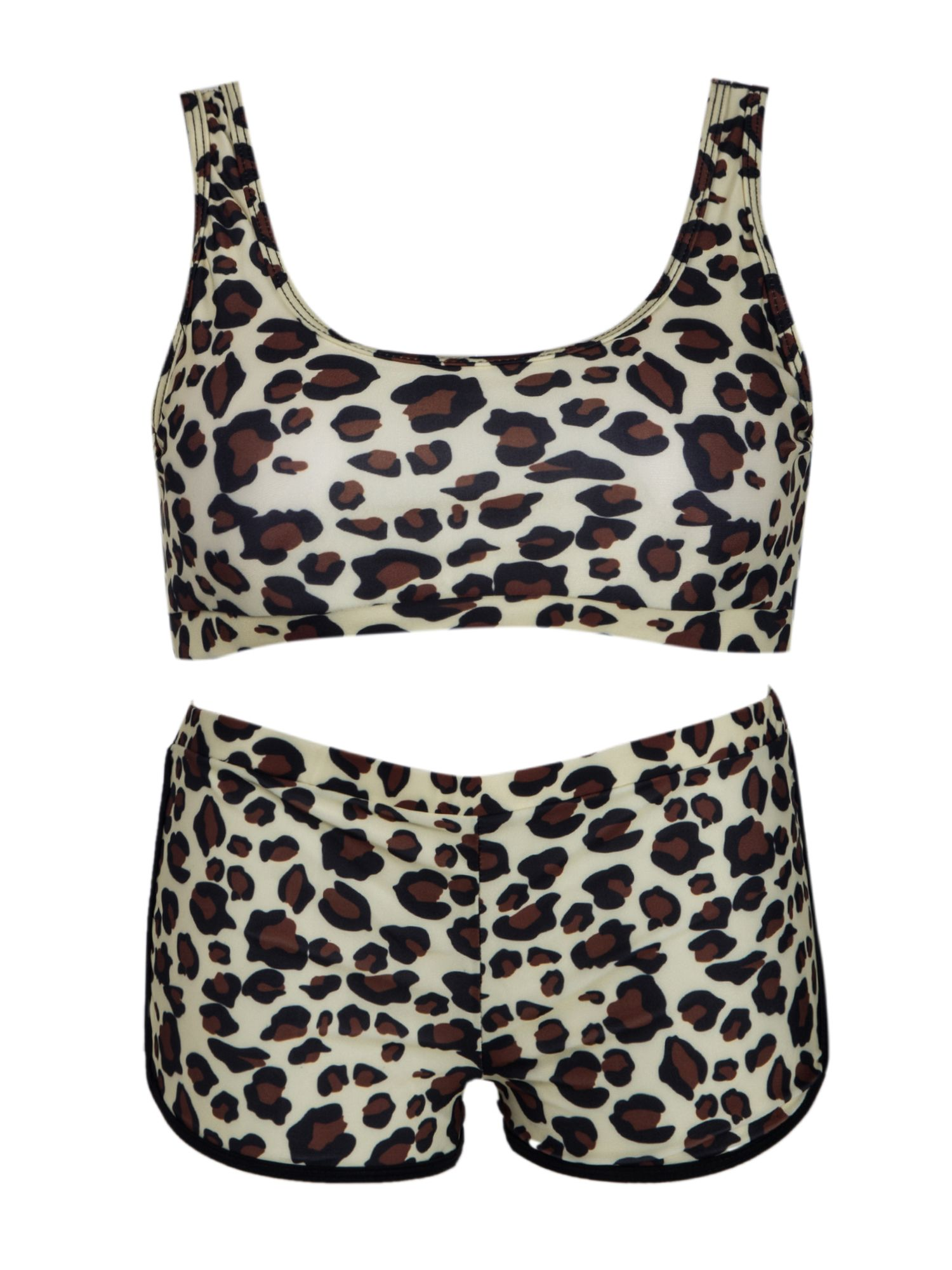 921d3cf96a09c SAYFUT Women's Two Piece Sports Padded Bra Bikini Set Swimsuit with Boy  Shorts Bathing Suits Leopard#Padded, #Bra, #Bikini