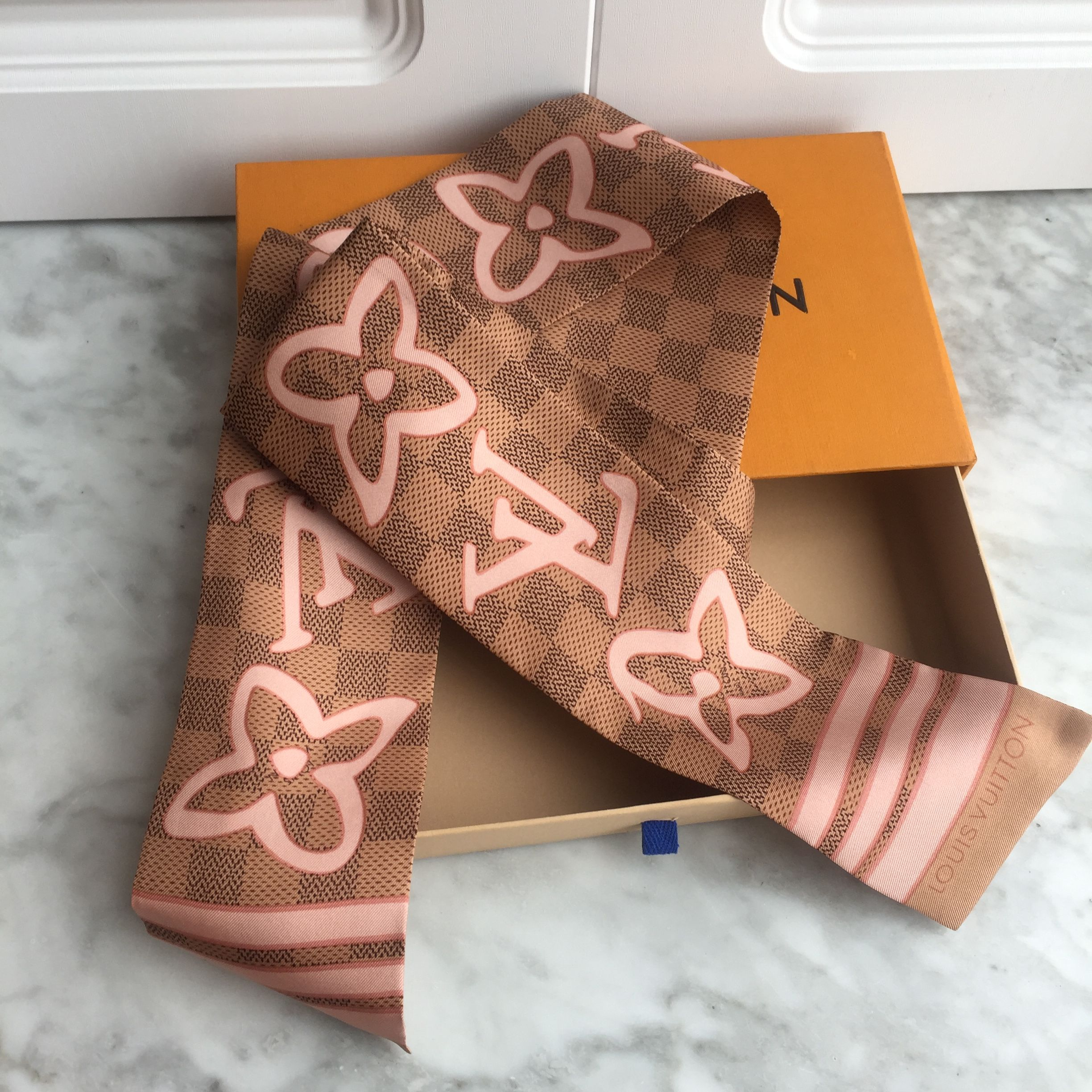 Louis Vuitton Lv Bag Scarf Neck Scarf Silk