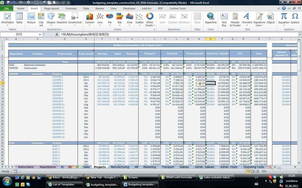 Excel Farm Accounting Templates And Excel Financial