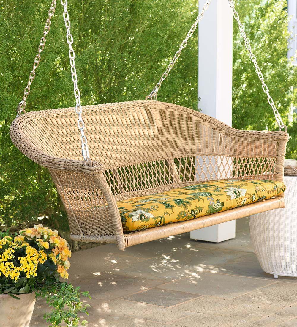 Easy Care Resin Wicker Swing | Swings | Porch Life - Ideas & Decor ...