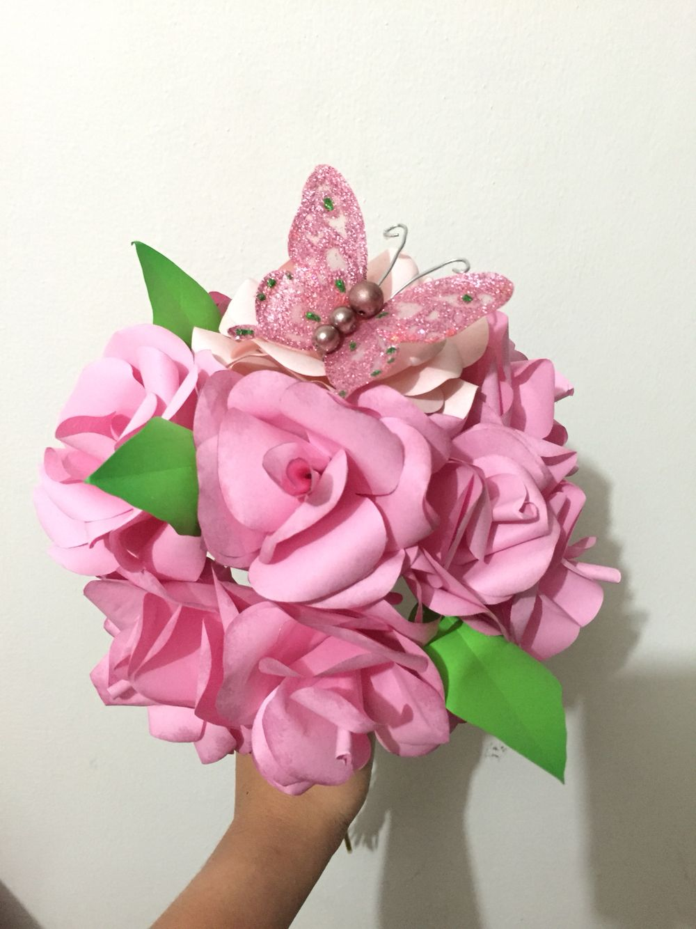 Paper Flower Bouquet With Butterfly For The Principal Sponsors Diy