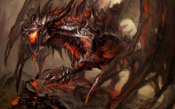 Deathwing Fantasy Art World Of Warcraft Dragon Wallpaper