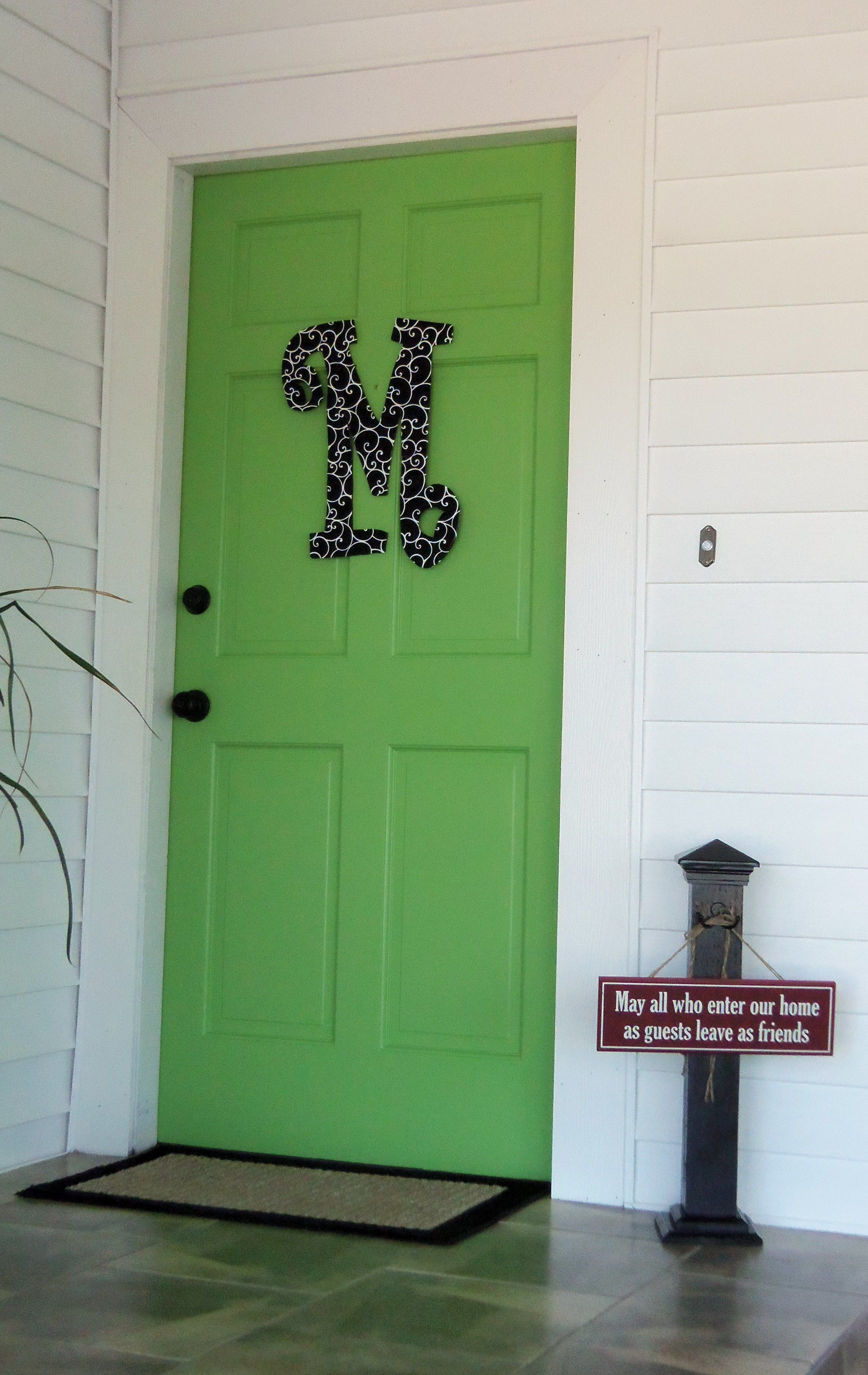 My limealicious door o Doors & Door Decor Pinterest