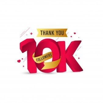 Thank you 10000 followers banner | Premium Vector