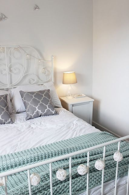 Grey White And Duck Egg Bedroom