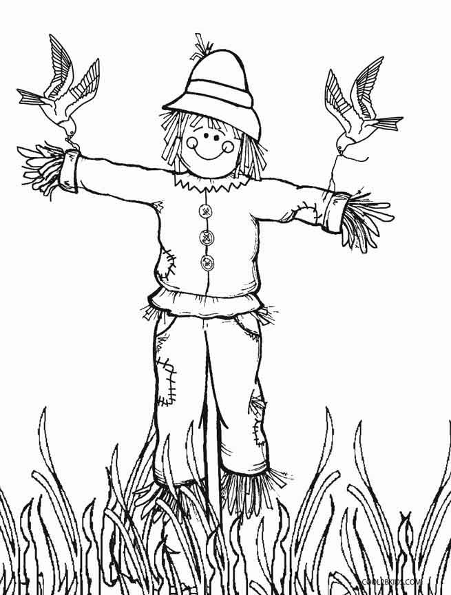 Printable Scarecrow Coloring Pages For Kids Cool2bkids Fall Coloring Pages Scarecrow Face Cool Coloring Pages
