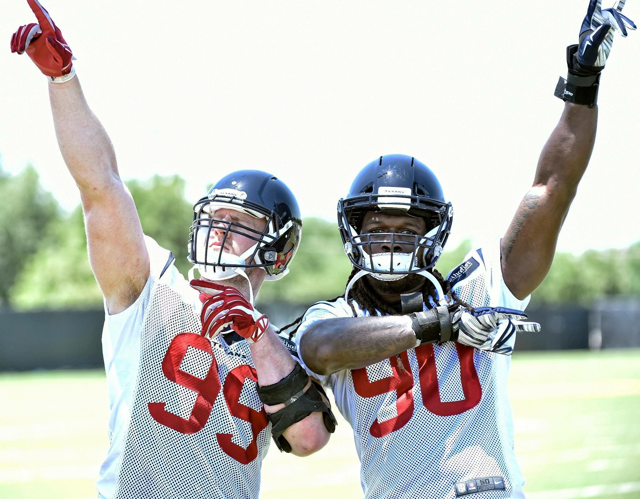 fecf760ab53 JJ Watt   Jadeveon Clowney. Ruining offensive game plans this fall ...