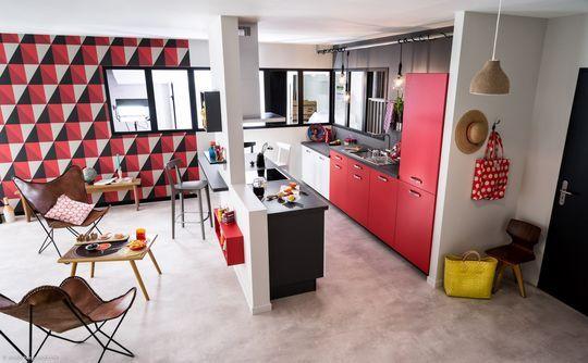 cuisine semi ouverte sur salon avec bar les nouvelles id es pinterest interior. Black Bedroom Furniture Sets. Home Design Ideas