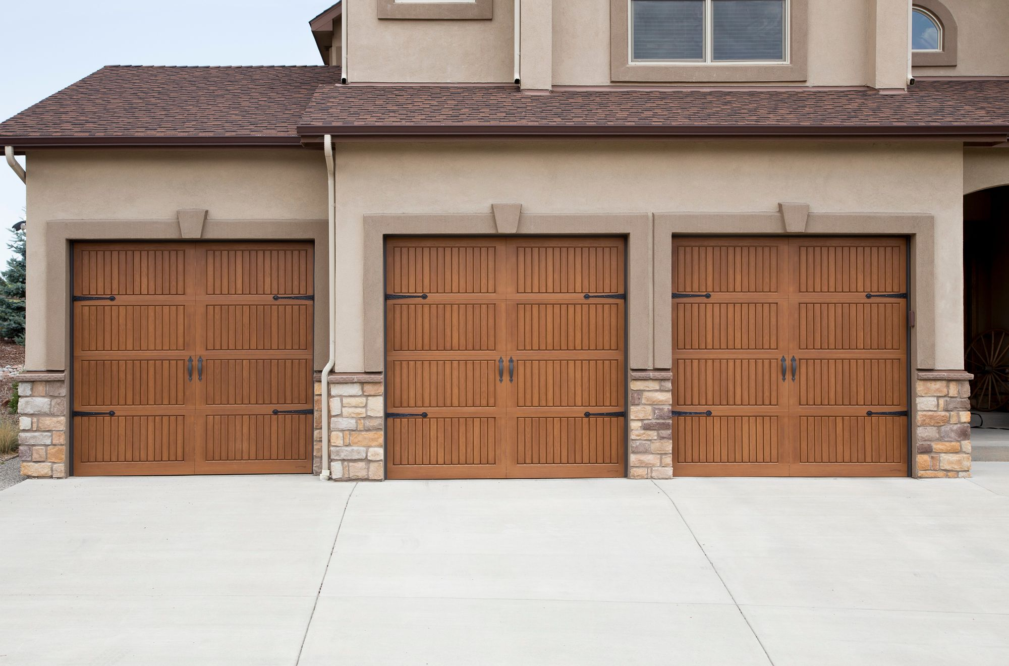 Wood Look Steel Garage Door Wooden Garage Doors Garage Doors Doors