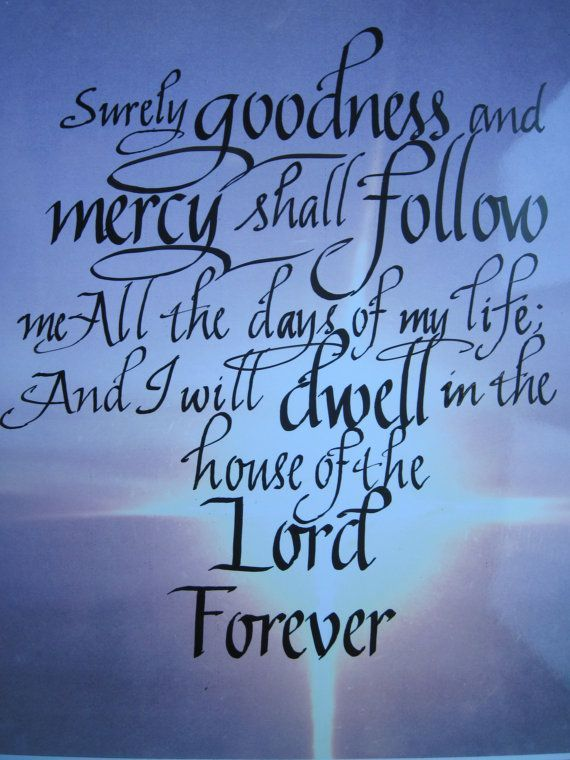 Bible Lookup Psalms 23 | Psalm 23 6 Christian Scripture Art Bible Art by Biblecalligraphy $11 ...