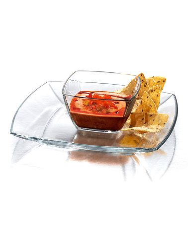 Another great find on #zulily! Soho Square Chip & Salsa Set #zulilyfinds