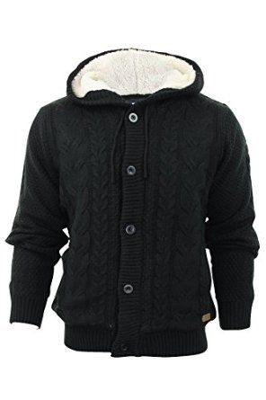 Threadbare Mens Knitted Cardigan Thompson Button Up Chunky Cable ...