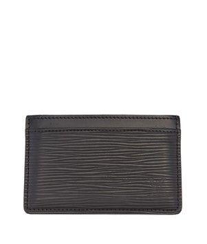 5ad841be7566 Get the lowest price on Louis Vuitton Black Epi Leather Card Holder and  other fabulous designer clothing and accessories! Shop Tradesy now