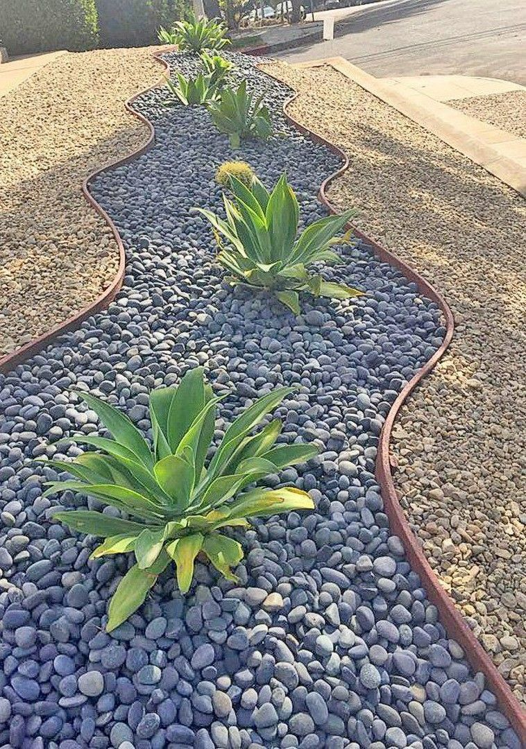Landscaping Garden Ideas with River Rock