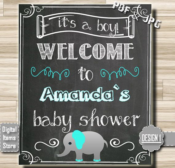 Wonderful Welcome Sign Baby Shower Welcome Chalkboard By DigitalitemsShop