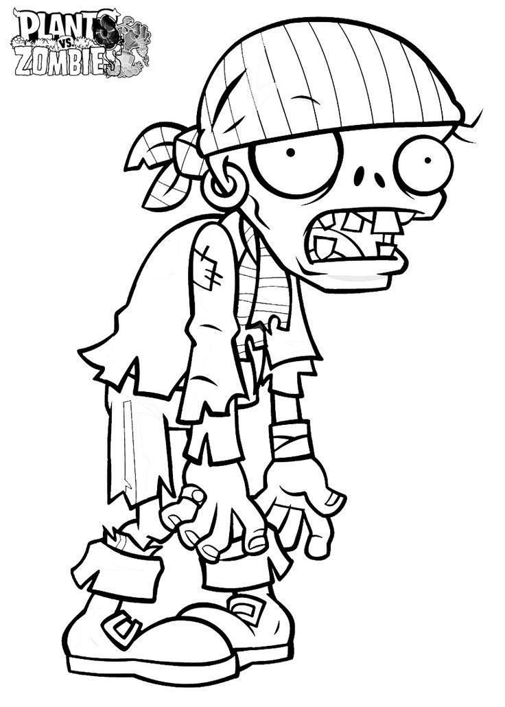 Plants Vs Zombies Coloring Pages Pirate Zombie Halloween Coloring Pages Halloween Coloring Zombie Drawings
