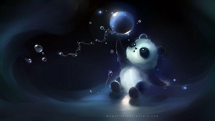 Fondo De Escritorio Con Movimiento De Panda Heart Touching Cuties And Kittens Arte De Panda Fondo De Pantalla De Dibujos Animados Fondos De Pantalla Bonitos