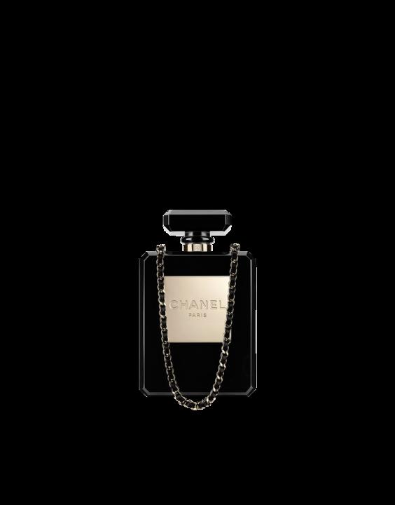 3d9b51ebcf5 Chanel perfume bottle shaped evening bag
