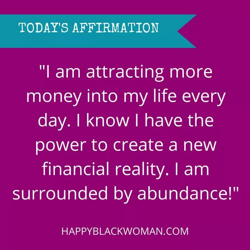 Financial Affirmation! | My Power Words and Thoughts