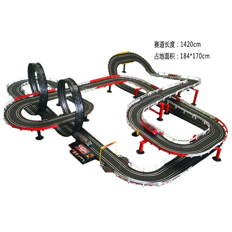 341380a50589e Remote Control Car Racing Tracks Double Play Race Electric Cars ...